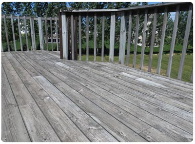 How Do I Clean An Old Gray Deck
